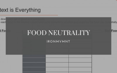 "Food Neutrality – Why We Need to Lose ""Good"" & ""Bad"" Food Lists"